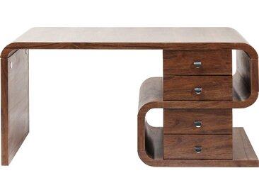 Bureau Snake noyer 4 tiroirs 150x70cm Kare Design