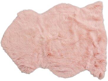 Peau de mouton Heidi rose 85x60cm Kare Design