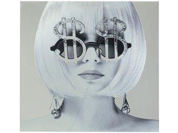 Tableau en verre lunettes Dollar 120x120cm Kare Design