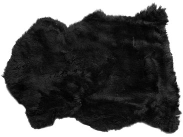 Peau de mouton Heidi noire 85x60cm Kare Design