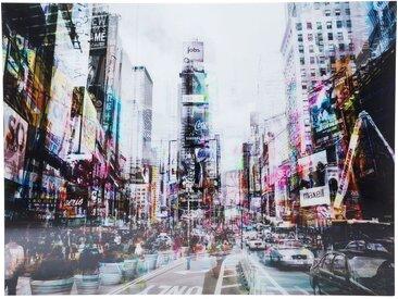 Tableau en Verre Times Square Move 120x160cm Kare Design