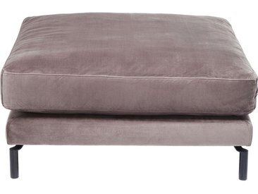 Repose-pieds Lullaby velours taupe Kare Design