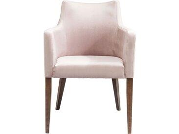 Chaise avec accoudoirs Mode velours rose Kare Design