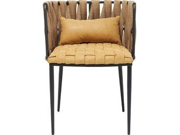 Chaise avec accoudoirs Cheerio jaune Kare Design