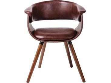 Chaise avec accoudoirs Monaco nougat Kare Design