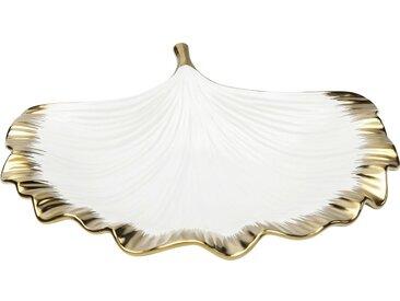 Coupe feuille de ginkgo bordure dorée Kare Design