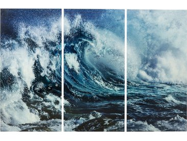 Tableaux en verre Triptychon Wave 160x240cm set de 3 Kare Design