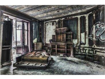 Tableau en verre Vintage Piano Room 100x150cm Kare Design