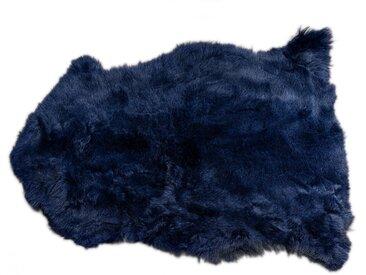 Peau de mouton Heidi bleu foncé 85x60cm Kare Design