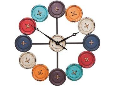 Horloge Buttons Kare Design