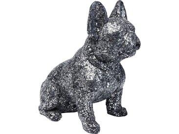 Déco chien mosaïque 40cm argent Kare Design