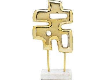 Déco Abstracto Puzzle dorée Kare Design