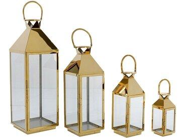 Lanternes Giardino dorées set de 4 Kare Design