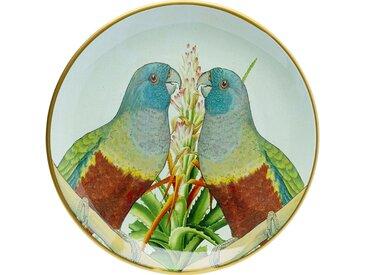 Plat couple perroquets 35cm Kare Design