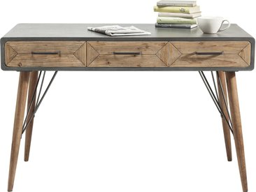 Bureau en bois X Factory 3 tiroirs 120x60cm Kare Design