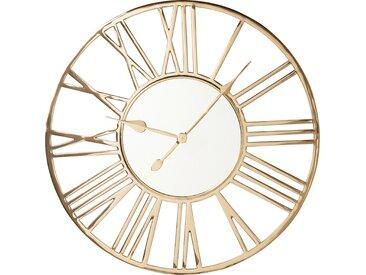 Horloge murale Giant dorée 80cm Kare Design