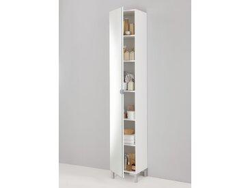 Colonne de salle de bains Tarragone avec miroir - blanc