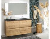 Meuble de salle de bain 120 cm KALEO couleur bois