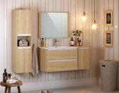 Colonne de salle de bain 137 cm MILAN couleur bois