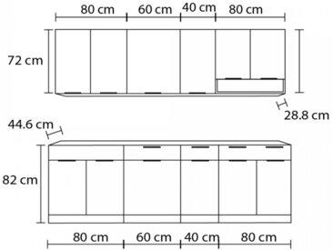 Cuisine complète linéaire 2,60 m KARIO