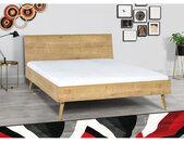 Lit double design en bois dimension 160 x 200, Gamme benidorm