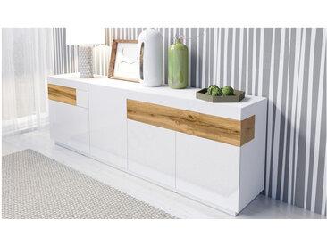 Buffet en bois,, portes,, tiroirs, Gamme Florence