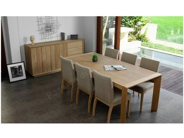 Table a diner en chêne, 200 cm, Gamme Milan