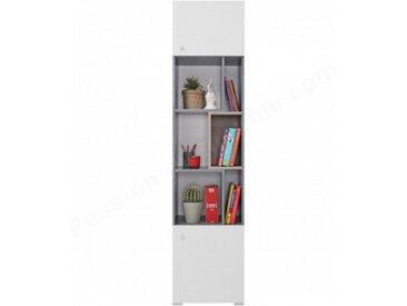 Bibliothèque enfant en bois, 2 portes, 6 niches, Gamme elche