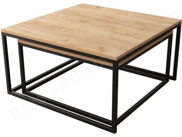 Lot deux tables basses gigogne , Gamme aby