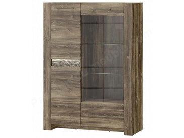 Vaisselier en placage chene, 1 porte,, porte vitree, Gamme Bilbao