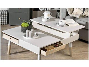 Table basse en bois, plateau r?glable,, niches, Gamme Orlando