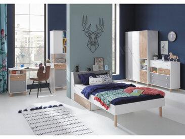 Lit ado design avec coffre et espace de rangement, Gamme teen 90x200