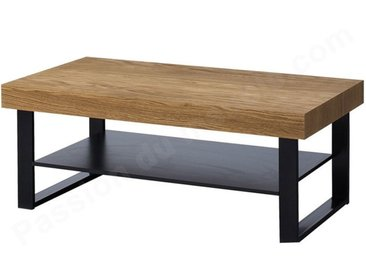 Table basse placage chene, double plateau, Gamme Bari