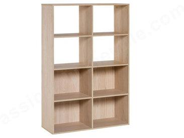 Bibliothèque enfant en bois, 8 niches, Gamme tavira Beige