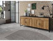 Buffet en bois, 204 cm longeur, 2 tiroirs 4 portes style industriel, Gamme factory