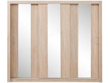 Armoire dressing 3 portes coulissantes, Gamme muro Chêne