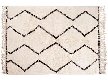 Naima: 170cm x 240cm 25% Soldes: Tapis Berbère, Beni Ouarain, Laine, Style Marocain, Motif