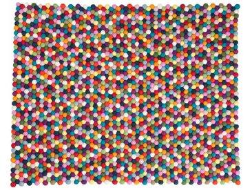 Alisha - rectangulaire: 15cm x 20cm Tapis Boule Laine Multicolore, Pinocchio, Boules de Feutre, Rectangulaire
