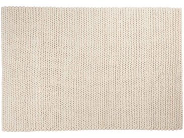 Kalim: 300cm x 400cm moquette en laine blanche, laine naturelle douce, hygge, tapis en laine épaisse