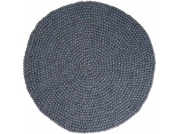 Swornima - rond: 250cm Design scandinave laine gris Tapis de Boules,favori des Architectes d'Intérieur