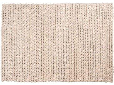 Ali: 150cm x 200cm tapis blancs, tapis tressé, laine feutrée, fait main, hygge