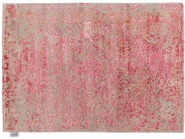 Akiludin - tufté main:  Tapis orientaux tuftes de belle main, soie rose brillante