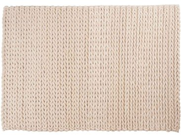 Ali: 100cm x 140cm tapis blancs, tapis tressé, laine feutrée, fait main, hygge