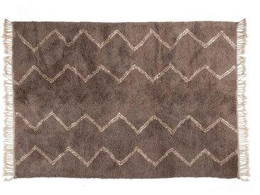 Marocain, tapis de laine de mouton, modèles de rails, gris avec la couleur blanche, bas prix en ligne-