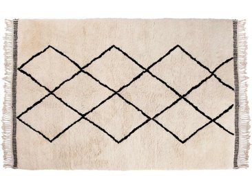 Aicha: 300cm x 400cm Tapis Beni Ouarain du Maroc, Tapis Berbère de l'Atlas Avec Motif Diamant, Tapis Marocain, Acheter en Ligne
