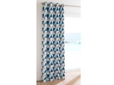 Rideau : largeur 140 x hauteur 260cmmenthe / gris Rideau occultant imprimé