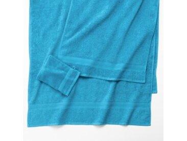 Maxi drap de bain : 90x180cmturquoise  Eponge unie confort moelleux