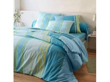Drap-housse 2 pers : 160x200cmturquoise Linge de lit Détroit coton