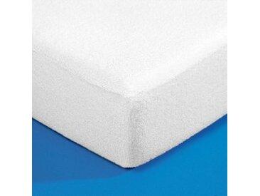 Protège-matelas 1 pers : 80x190cmblanc  Protège-matelas éponge imperméable traité Bi-ome®