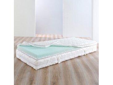 Surmatelas 2 pers : 160x200cmblanc Surmatelas mousse confort 125g/m²